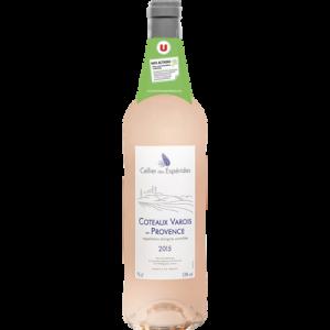Vin rosé AOC Côteaux Varois Provence Celliers Des Espérides U, 75cl