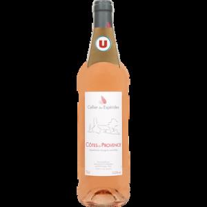 Vin rosé AOC Côtes de Provence Cellier des esperides U, 75cl
