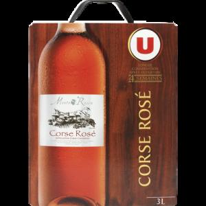 Vin rosé AOC Corse U, fontaine à vin de 3l