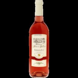 Vin rosé AOP Bordeaux Chateau Baron Fillon bio U, bouteille de 75cl