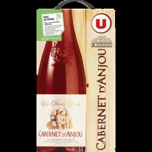Vin rosé AOP Cabernet d'Anjou Les Hauts Buis U, fontaine à vin de 5 litres