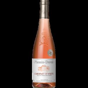 Vin rosé AOP Cabernet d'Anjou PLESSIS DUVAL, bouteille de 75cl