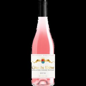 Vin rosé AOP CotesRhône reserve prestige rose, 12.5° bouteille de 75cl