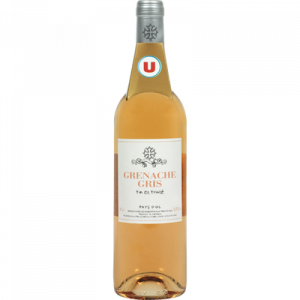 Vin rosé IGP Pays d'OC Grenache gris U, 75cl