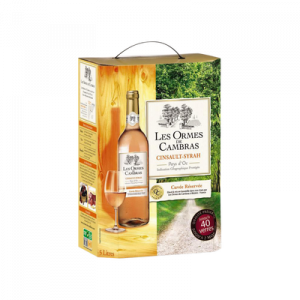 Vin rosé IGP de pays d'Oc Cinsault Syrah LES ORMES DE CAMBRAS, fontaine à vin de 5l