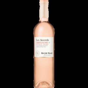 Vin rosé Pays d'Oc IGP Grenache Pinot Noir les Accords de Roche Mazet,75cl