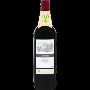 Vin rouge IGP Pays d'Oc Merlot Le Bosquet U BIO, 75cl