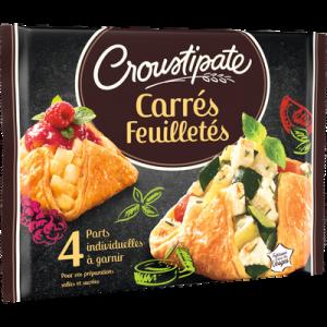 4 carrés de pâte feuilletée CROUSTIPATE, 240g