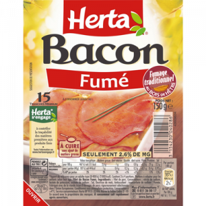 Bacon 15 tranches fines HERTA, 150g