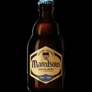 Bière Abbaye ambrée belge triple, MAREDSOUS, bouteille de 33cl