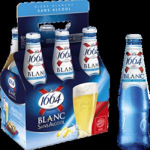 Bière blanche sans alcool 1664 6x25cl