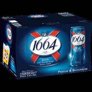 Bière blonde 1664 5,5° pack boîte long design 12x33cl