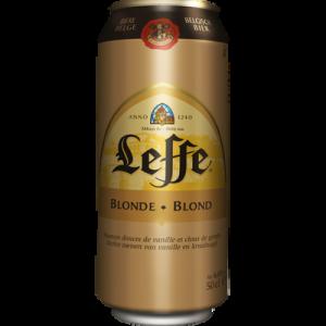 Bière blonde ABBAYE DE LEFFE, 6.6°, canette de 50cl