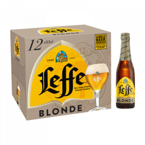 Bière blonde ABBAYE DE LEFFE 6,6° pack bouteilles 12x33cl