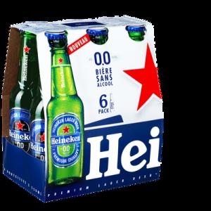 Bière sans alcool HEINEKEN, 0,00° 6 bouteilles de 25cl