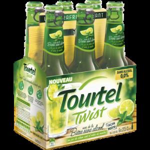 Bière sans alcool twist mojito TOURTEL, 0°, pack de 6x27,5cl