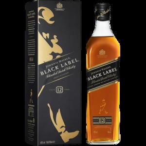 Blended Scotch Whisky 12 ans d'âge JOHNNIE WALKER BLACK LABEL, 40°, bouteille de 70cl
