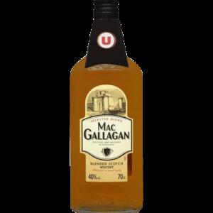 Blended Scotch Whisky Mac Gallagan U, bouteille de 70cl
