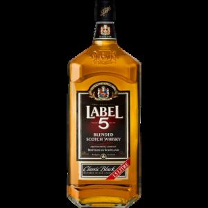 Blended Scotch whisky LABEL, 5, 40°, 1,5l
