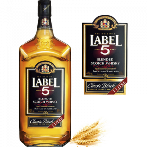 Blended Scotch whisky LABEL 5, 40°, 1l