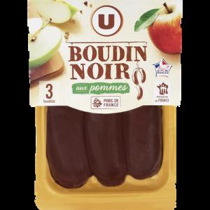 Boudin noir pommes U, portion x3 soit 375g