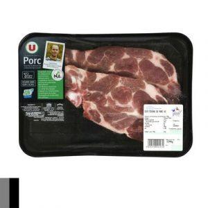 Côte de porc échine, U, France, 2 pièces 360 g