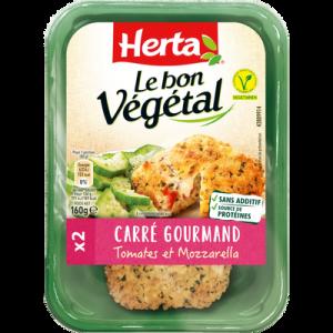 Carré gourmand tomate & mozzarella bon végétal HERTA, 160g