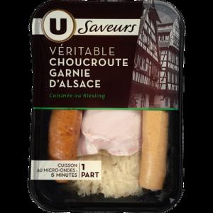 Choucroute garnie alsacienne U SAVEURS, 390g