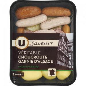 Choucroute garnie d'Alsace U SAVEURS, 970g