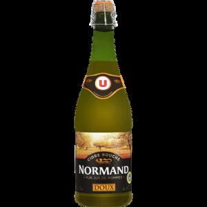 Cidre IGP bouché brut de Normandie U, 5°, bouteille de 75cl
