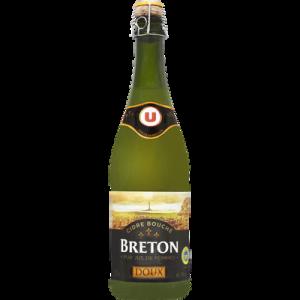 Cidre bouché doux de Bretagne IGP U, 2°, bouteille de 75cl