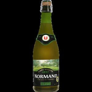 Cidre bouché doux de Normandie IGP U ,2°,bouteille 75cl