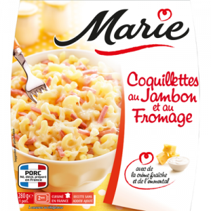 Coquillettes jambon fromage MARIE, 280g