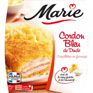 Cordon bleu et coquillettes au fromage MARIE, 280g