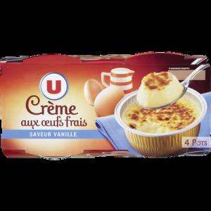 Crème aux oeufs à la vanille U 4x100g