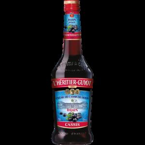 Crème de cassis de Dijon L'HERITIER GUYOT, 15°, bouteille de 70cl