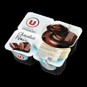 Crème dessert au chocolat noir U, 4x125g