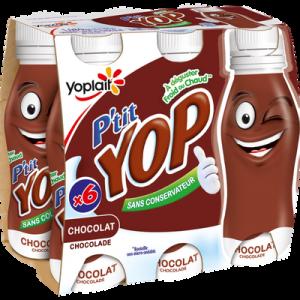 Dessert lacté à boire au chocolat P'TIT YOP, 6X180g