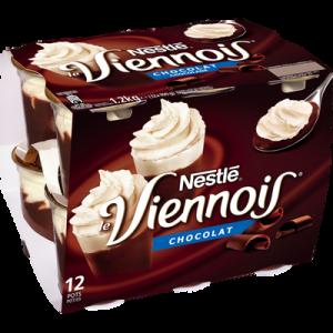 Dessert lacté au chocolat LE VIENNOIS, 12x100g