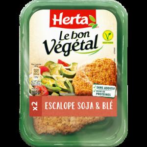 Escalope soja et blé le bon végétal HERTA, barquette de 180g