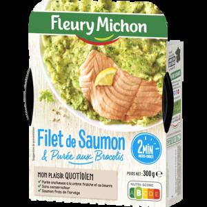 Filet de saumon atlantique purée brocolis FLEURY MICHON, 300g