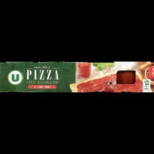Kit pizza pâte prête à dérouler avec sauce tomate U, paquet de 600g