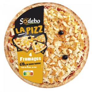 La pizza 4 fromages fondants SODEBO, 470g