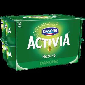 Lait fermenté au bifidus actif nature enrichi en vitamine D ACTIVIA, 16x125g
