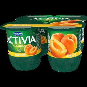 Lait fermenté bifidus actif abricot ACTIVIA Fruits, 4x125g