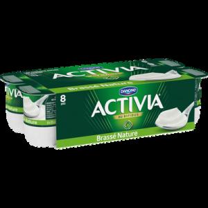 Lait fermenté brassé nature au bifidus ACTIVIA, 8X125g