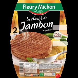 Le haché de jambon sans gluten FLEURY MICHON, 2x100g
