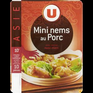 Mini nem au porc x10 + sauce nuoc mam, U, 220g