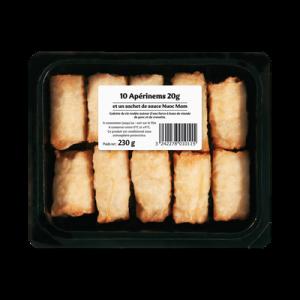 Mini nems au porc,10 pièces, 230g