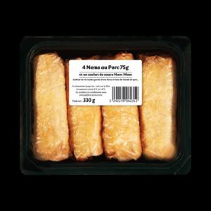 Nems au porc, 4 pièces, 330g